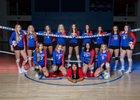 Las Cruces Bulldawgs Girls Varsity Volleyball Fall 18-19 team photo.