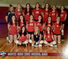 South Side Cyclones Girls Varsity Volleyball Fall 18-19 team photo.