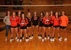 Rock Springs Tigers Girls Varsity Volleyball Fall 18-19 team photo.
