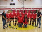 New Mexico School for the Deaf Roadrunners Girls Varsity Volleyball Fall 18-19 team photo.