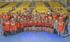 Skyridge Falcons Girls Varsity Volleyball Fall 18-19 team photo.