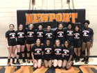 Newport Greyhounds Girls Varsity Volleyball Fall 18-19 team photo.