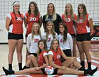 Reeds Spring Wolves Girls Varsity Volleyball Fall 18-19 team photo.