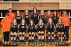 Elizabethton Fighting Cyclones Girls Varsity Volleyball Fall 18-19 team photo.