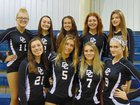 Duval Charter Panthers Girls Varsity Volleyball Fall 18-19 team photo.