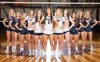 Palm Harbor University Hurricanes Girls Varsity Volleyball Fall 18-19 team photo.