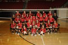 Russellville Cyclones Girls Varsity Volleyball Fall 18-19 team photo.