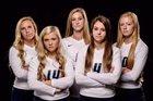 Lafayette Central Catholic Knights Girls Varsity Volleyball Fall 18-19 team photo.