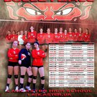 Lancaster Red Devils Girls Varsity Volleyball Fall 18-19 team photo.