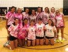 Newton North Tigers Girls Varsity Volleyball Fall 18-19 team photo.