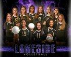 Lakeside Vikings Girls Varsity Volleyball Fall 18-19 team photo.