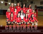 Bishop Snyder Cardinals Girls Varsity Volleyball Fall 18-19 team photo.