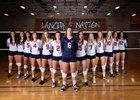 Liberty Lancers Girls Varsity Volleyball Fall 18-19 team photo.
