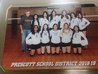Prescott Tigers Girls Varsity Volleyball Fall 18-19 team photo.