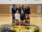 Shelby Golden Lions Girls Varsity Volleyball Fall 18-19 team photo.