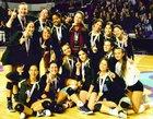 Divine Savior Academy Sharks Girls Varsity Volleyball Fall 18-19 team photo.