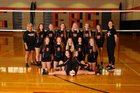 Union-Endicott Tigers Girls Varsity Volleyball Fall 18-19 team photo.