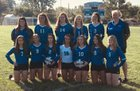 Brookville Blue Devils Girls Varsity Volleyball Fall 18-19 team photo.