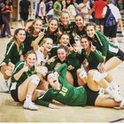 Kingsburg Vikings Girls Varsity Volleyball Fall 18-19 team photo.