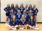 North Judson-San Pierre Bluejays Girls Varsity Volleyball Fall 18-19 team photo.