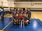 Plains Cowboys Girls Varsity Volleyball Fall 18-19 team photo.