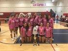 Riviera Prep Bulldogs Girls Varsity Volleyball Fall 18-19 team photo.