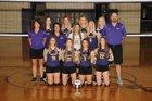 Lavaca Golden Arrows Girls Varsity Volleyball Fall 18-19 team photo.