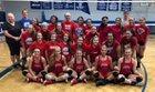 Cleveland Blue Raiders Girls Varsity Volleyball Fall 18-19 team photo.
