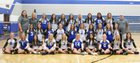 Plattsmouth Blue Devils Girls Varsity Volleyball Fall 18-19 team photo.