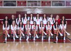 Roswell Coyotes Girls Varsity Volleyball Fall 18-19 team photo.