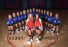Wabaunsee Chargers Girls Varsity Volleyball Fall 18-19 team photo.