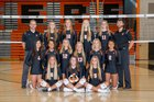 Valley Tigers Girls Varsity Volleyball Fall 18-19 team photo.