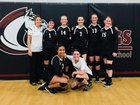 Community Christian Mustangs Girls Varsity Volleyball Fall 18-19 team photo.