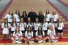 Huntley Red Raiders Girls Varsity Volleyball Fall 18-19 team photo.