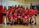 Brandon Bulldogs Girls Varsity Volleyball Fall 18-19 team photo.