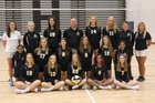 Apex Cougars Girls Varsity Volleyball Fall 18-19 team photo.