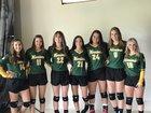 Ridgefield Christian Warriors Girls Varsity Volleyball Fall 18-19 team photo.