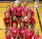 New Prairie Cougars Girls Varsity Volleyball Fall 18-19 team photo.