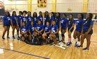 Central Hawks Girls Varsity Volleyball Fall 18-19 team photo.