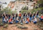 Valley Buffalos Girls Varsity Volleyball Fall 18-19 team photo.