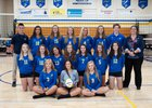 St. Joseph Lancers Girls Varsity Volleyball Fall 18-19 team photo.