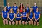 Penn Yan Academy Mustangs Girls Varsity Volleyball Fall 18-19 team photo.