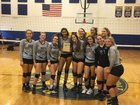 North Bay Haven Academy Buccaneers Girls Varsity Volleyball Fall 18-19 team photo.