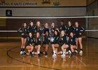 Reed Raiders Girls Varsity Volleyball Fall 18-19 team photo.