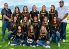 St. Pius X Sartans Girls Varsity Volleyball Fall 18-19 team photo.