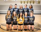 South Bison Girls Varsity Volleyball Fall 18-19 team photo.