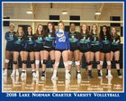 Lake Norman Charter Knights Girls Varsity Volleyball Fall 18-19 team photo.