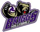 Briggs Bruins Girls Varsity Volleyball Fall 18-19 team photo.