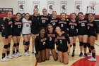 Leading Edge Academy - GEC Spartans Girls Varsity Volleyball Fall 18-19 team photo.
