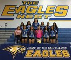 San Elizario Eagles Girls Varsity Volleyball Fall 18-19 team photo.
